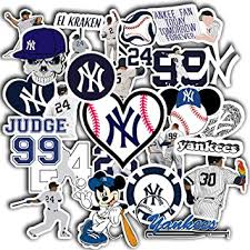 Amazon Com Stickers Pack New York Aesthetic Yankees Vinyl Logo Baseball Decal Ny Car Truck Window Sticker Pack Of 50 Computers Accessories