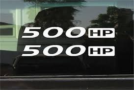 500 Hp Horsepower Vinyl Decal Sticker Pair Ebay
