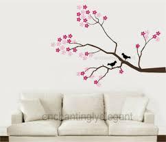 Tree Wall Sticker Butterfly Xxl Pink Cherry Blossoms Vinyl Art Home Decal Girls For Sale Online Ebay