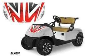 Golf Cart Hood Graphics Kit Decal Sticker Wrap For E Z Go Freedom Rxv Slash Red Ebay