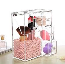 acrylic cosmetic makeup brushes holder