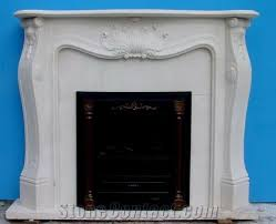indoor french style stone fireplace