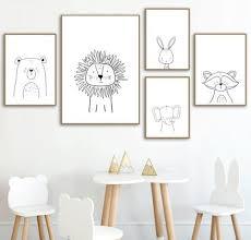 Nordic Animal Posters In 2020 Baby Room Art Art Wall Kids Girl Nursery Wall