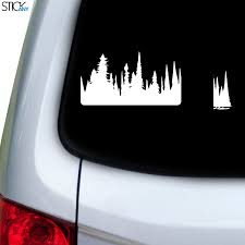 Dense Forest Decal For Car Window Stickany
