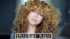 fine thin curly hair look thicker