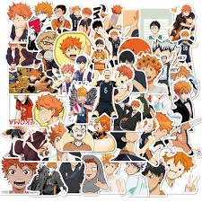Super Promo 5750 50pcs Set Haikyuu Stickers Japanese Anime Sticker Volleyball For Decal On Guitar Suitcase Laptop Phone Fridge Motorcycle Car Cicig Co