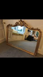 large ornate overmantle gold mirror