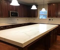 a quartz countertop that looks like marble