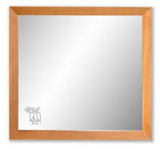 wall mirror solid cherry wood