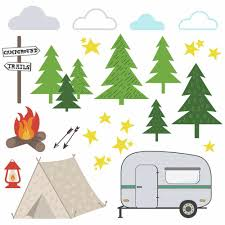 Camping Peel And Stick Wall Decals Roommates Decor
