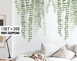 Plant Wall Decals Etsy