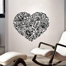 Swirl Flowers Wall Stickers Home Decor Vinyl Art Stickers Heart Shaped Wall Decals Removable Adhesive Mural Star Stickers For Walls Star Wall Decals From Moderndecal 10 14 Dhgate Com