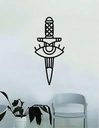 Dagger Eye Wall Decal Home Decor Art Bedroom Room Sticker Vinyl Tattoo Boop Decals