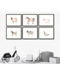 Here S A Great Price On Farm Animal Nursery Prints Horse Piglet Dog Chick Cow Watercolor Animals Wall Art Set Of 6 Kids Room Decor
