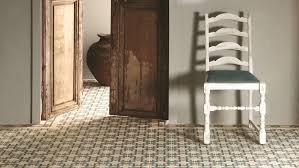 clean encaustic floor tiles