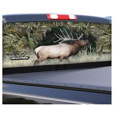 Camowraps Elk Graphic Rear Window Film For Compact Truck Realtree Max 1 424439 At Sportsman S Guide