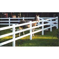 China Fence Pvc Ranch Fence For Horses Available In White Uv Resistant And Flexible On Global Sources