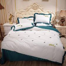 princess style embroidery ruffles bed
