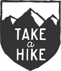 Take A Hike Cool Mountain Badge Hiking Car Decal Outdoor Stickers Take A Hike Car Decals