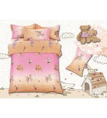 designer teddy bear double bedsheet