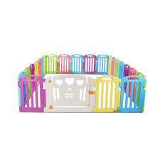 Cuddly Baby 23 Panel Plastic Baby Playpen Interactive Kids Toddler