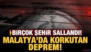 Malatya'nın Kale ilçesi 4,9 şiddetinde sallandı! Kandilli ve AFAd ...