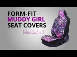 muddy girl form fit seat cover