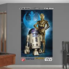 Star Wars R2 D2 C 3po Mural Realbig Wall Decal
