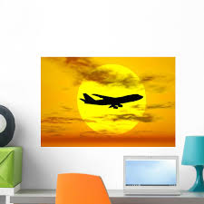Silhouette Boeing 747 Jet Wall Decal Wallmonkeys Com