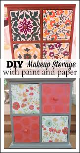 diy makeup storage using sbook paper