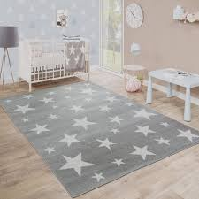 Amazon Com Kids Room Rug Starry Sky Design Star Trend For Playroom Pastel In Grey White Size 5 3 X 7 3 Home Kitchen