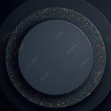 دائرة سوداء خلفية مجردة مع التألق الملونة دائرة الأشكال الورقية