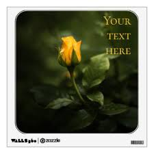Yellow Rose Wall Decals Stickers Zazzle