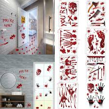 Horrible Halloween Bloody Handprint Stickers Wall Window Door Home Decal Stickers Halloween Party Decoration Haunted House Prop Wall Stickers Aliexpress