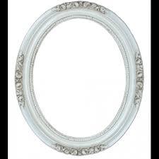 antique white 16x20 oval frame
