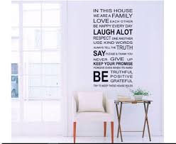 Family Rules Wall Decal Home Rules Words Removable Wall Etsy