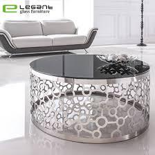 china black round glass coffee table