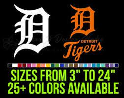 Detroit Tigers Decal Etsy