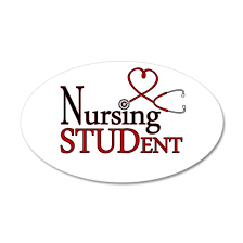 Nursing Student Cute Heart Stethoscope Wall Decal By Cutetoboot Cafepress