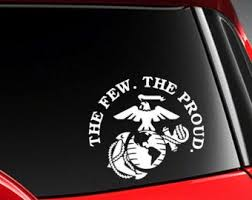 Proud Dad Us Marine Vinyl Car Decal Sticker 7 W With Etsy