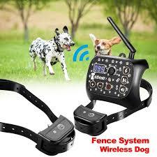Ownpets Outdoor Wireless Dog Training Shock 2 Collar Fence Pet Electric Trainer System Walmart Com Walmart Com