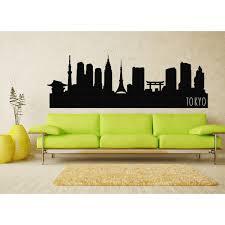 Tokyo City Skyline Decal Tokyo Japan State Wall Decal Tokyo Skyline 16 Liked On Polyvore Featuring Home Home Decor Wa Tokyo Skyline Tokyo City Design