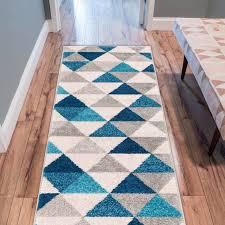 modern abstract triangle geometric blue