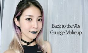 back to the 90s grunge makeup tutorial