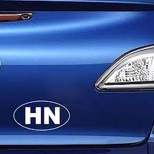 Yjzt 13 9cm 7 4cm Hn Honduras Oval Country Code Car Sticker Vinyl Decals Black Silver C10 01714 Car Stickers Aliexpress