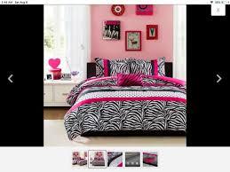 pc satin hot pink black flocking zebra