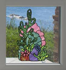 The Decal Store Com By Yadda Yadda Design Co Clr Wnd Tropical Reef Coral Cluster Anemones D2 Shell Seaweed