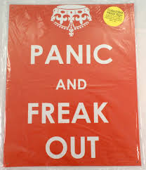 Panic And Freak Out Funny Metal Sign Pub Game Room Bar Dragonfly Whispers