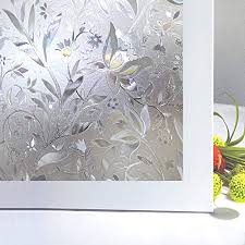 patterned decorative white frosted