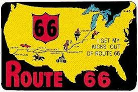 Collectibles Transportation Luggage Label Vinyl Sticker Kicks On Route 66 Vintage Style Travel Decal Zsco Iq